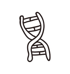 Dna icon sketch and science design vector
