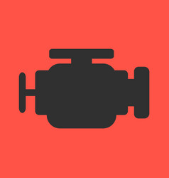 Engine flat icon on background vector