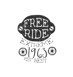 Freeride extreme vintage label vector