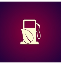 Gas station with leaves icon vector image vector image