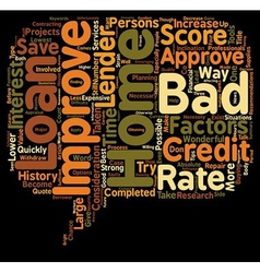 Get approved for a bad credit home improvement vector