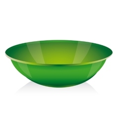 Green bowl vector