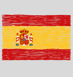 Hand drawn spanish flag vector