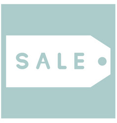 Label sale the white color icon vector