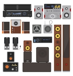 Music systems set vector