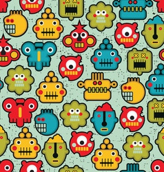 Robot Heads Pattern vector image