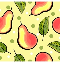 Seamless hand drawn pear pattern vector image vector image