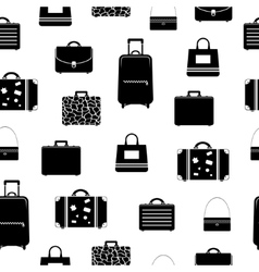 Seamless pattern with bags and suitcases vector image