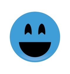 smile emoticon icon vector image