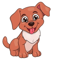 Smiling little puppy 2 vector image vector image