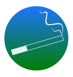 smoke icon great for any use white icon vector image vector image