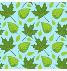 summer leaves seamless vector image vector image