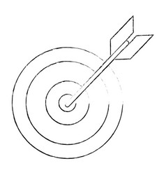 target arrow idea business sketch vector image