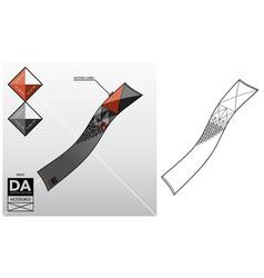tech sketch of a scarf vector image vector image