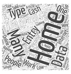 Typing simple data entry for cash word cloud vector