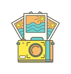 Camera and instant photos vector
