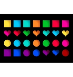collection of cute colorful icons vector image