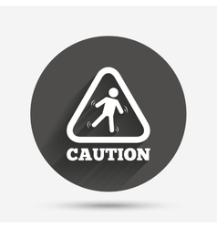 Caution wet floor icon human falling symbol vector