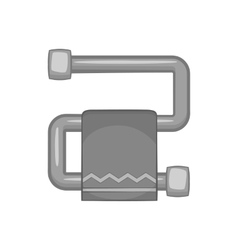 Heated towel rail icon black monochrome style vector