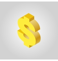 The dollar icon cash and money wealth payment vector