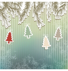 New years holiday background tree  eps8 vector