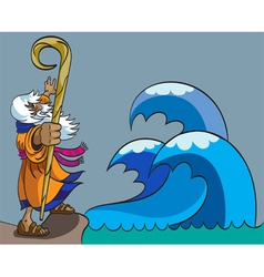 Moses and Red Sea vector image