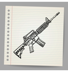 M16 Doodle vector image