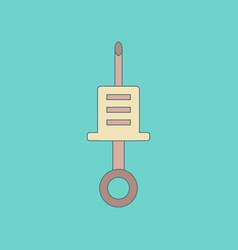 Flat icon on background kids toy syringe vector