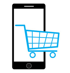 Shopping on mobile vector