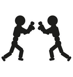 Boxing man sign   black icon vector