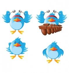 tweeter bird vector image