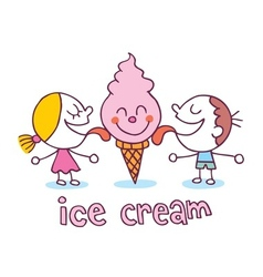 Ice cream kids vector