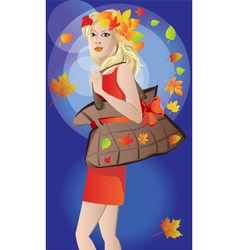 Autumn poster vector