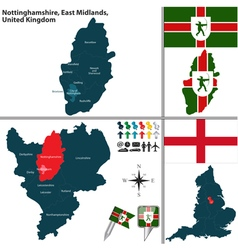 Nottinghamshire east midlands vector