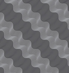 Repeating ornament diagonal light and dark gray vector