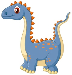 Cartoon happy dinosaur vector