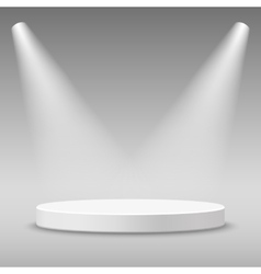 Illuminated round stage podium vector