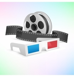 Movie cinema set vector