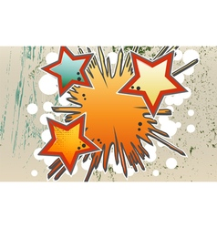 Abstract background of explosion stars in graffity vector