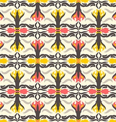 Abstract seamless pattern floral motif background vector image