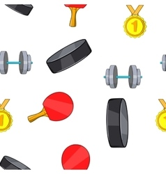 Accessories for training pattern cartoon style vector image