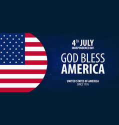 American independence day god bless america 4th vector
