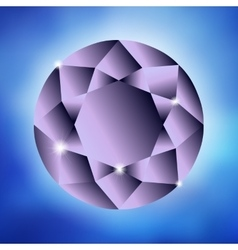 Big purple diamond vector image
