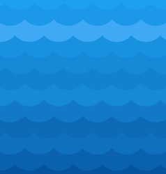 Blue wave pattern vector image vector image