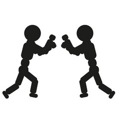 Boxing man sign black icon vector