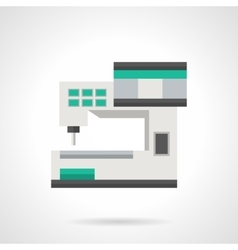 Computer sewing machine flat color icon vector