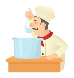 Cooking chef icon cartoon style vector