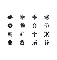 Environmental and people icons lyra series vector