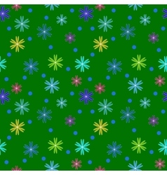 Flower color seamless pattern vector image vector image