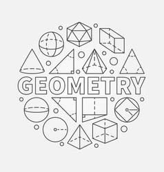 geometry round vector image